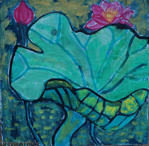 五年级美丽的春天画; 小学生五年级风景画;